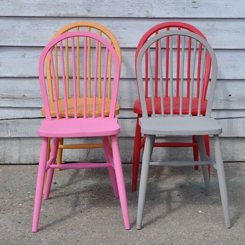 Colorful Kitchen Chairs: Painted Ercol Chair - Yellow