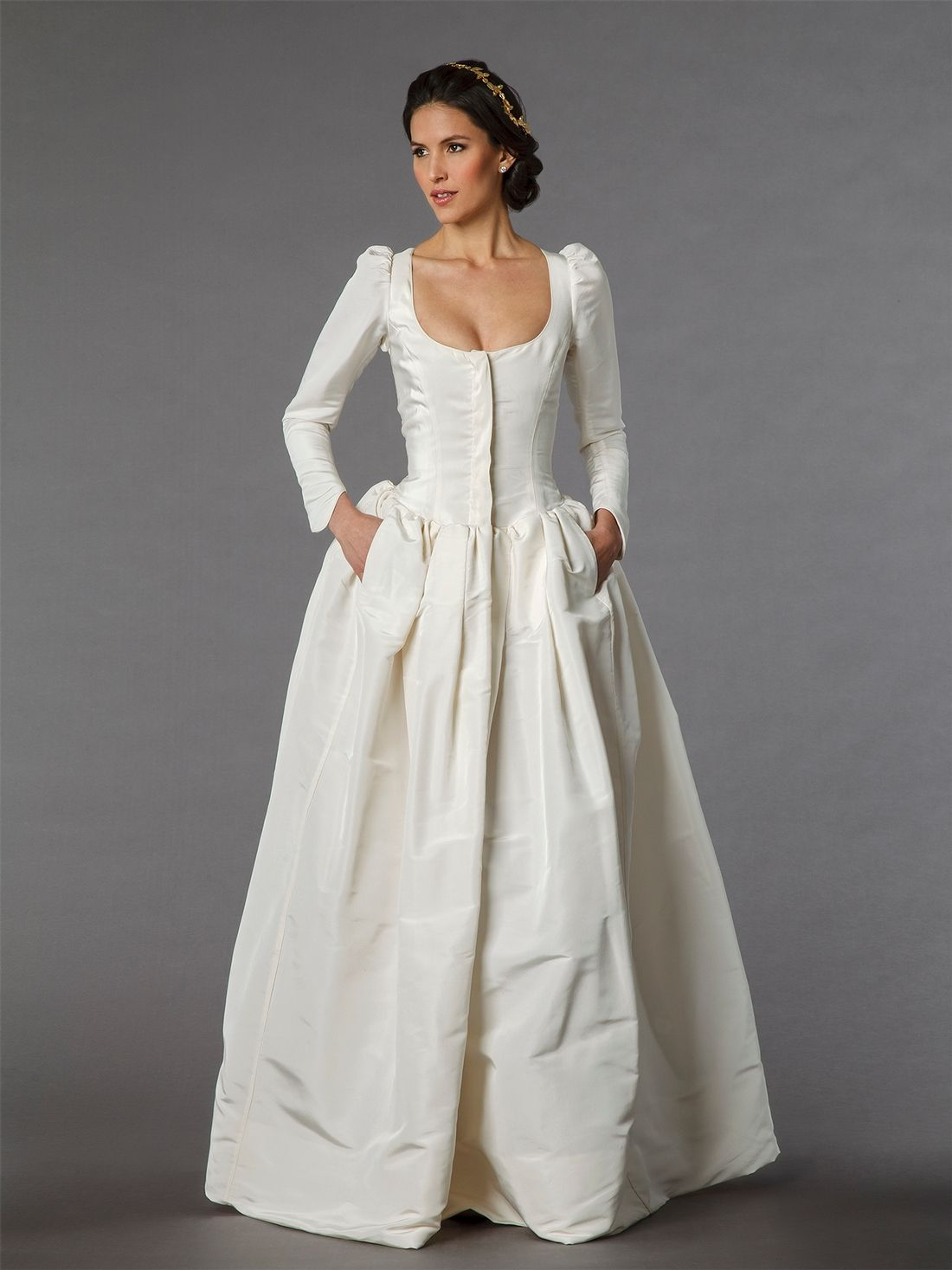 Time Traveling. I\'m oddly attracted to this... KleinfeldBridal.com ...