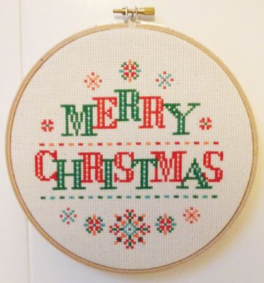 DIY DMC Counted Cross Stitch Patterns Needlework embroidery White Christmas