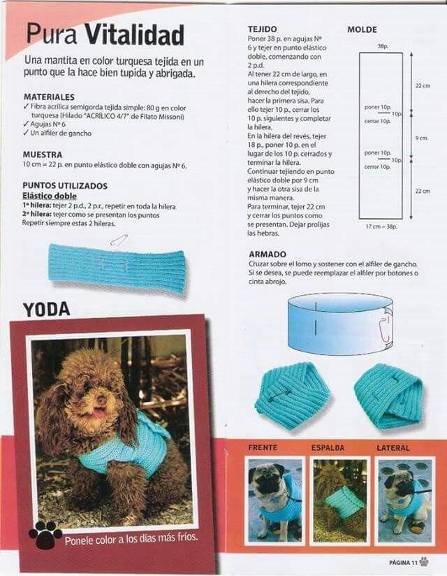Perfecto Patrón De Ganchillo Suéter Perro Pequeño Adorno - Manta de ...