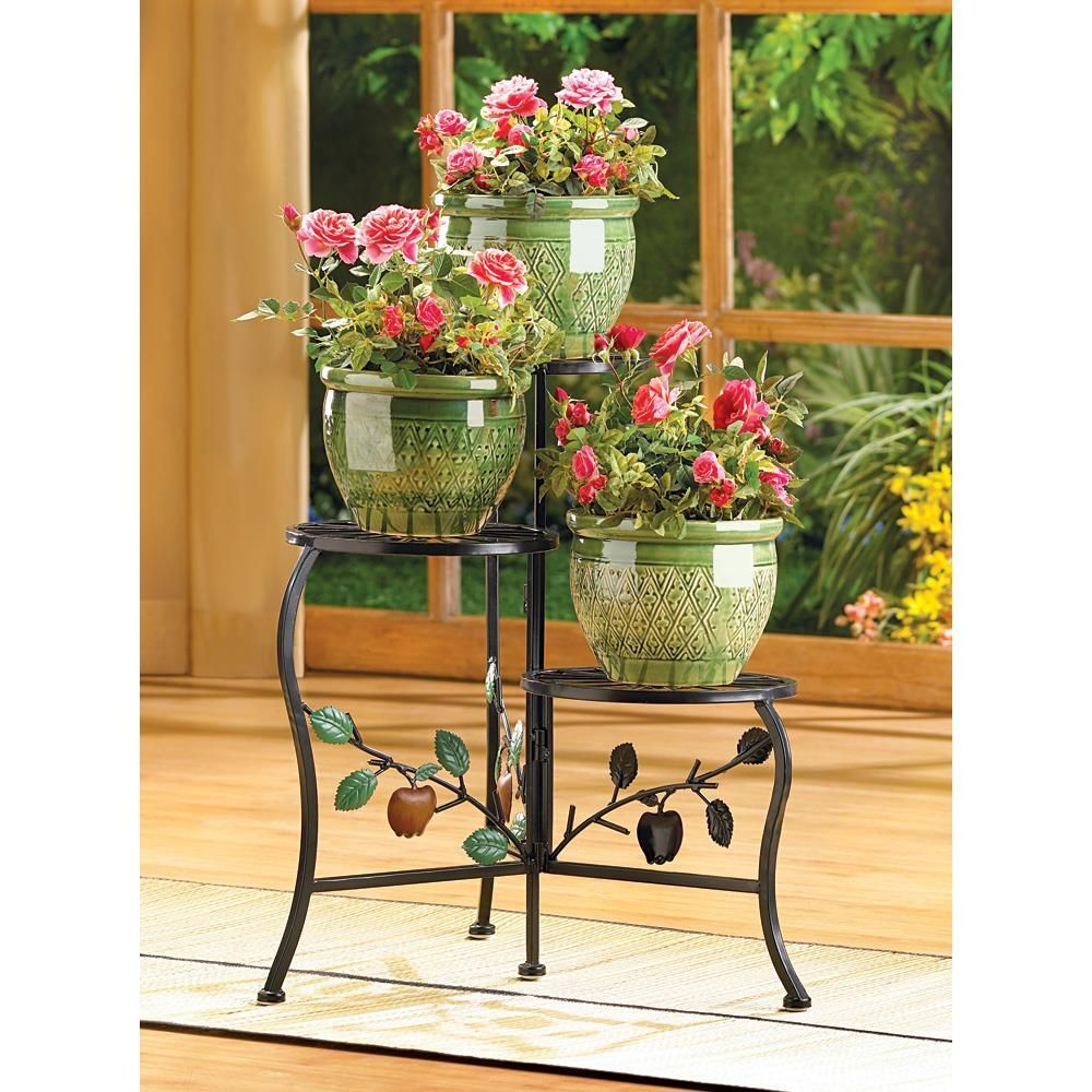 Country Apple Plant Stand Wrought Iron Plant Stands Iron Plant