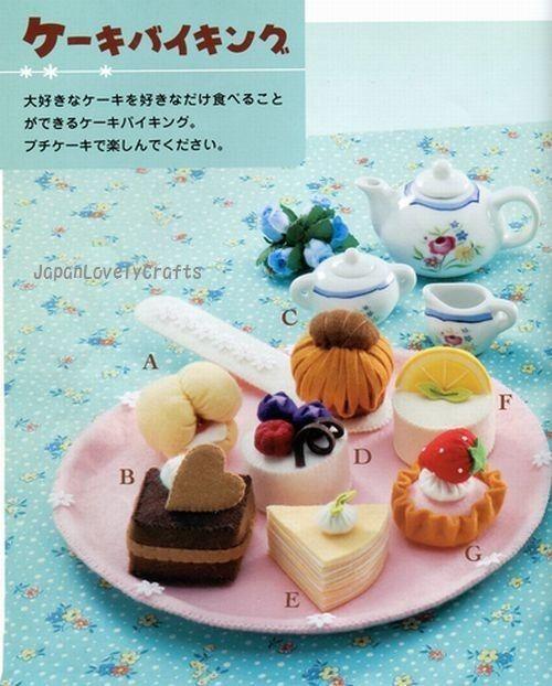 Sweets Felt Pattern Japanese Craft Book by JapanLovelyCrafts