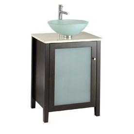 American Standard Cardiff Espresso Contemporary Bathroom Vanity - Contemporary bathroom vanities with tops