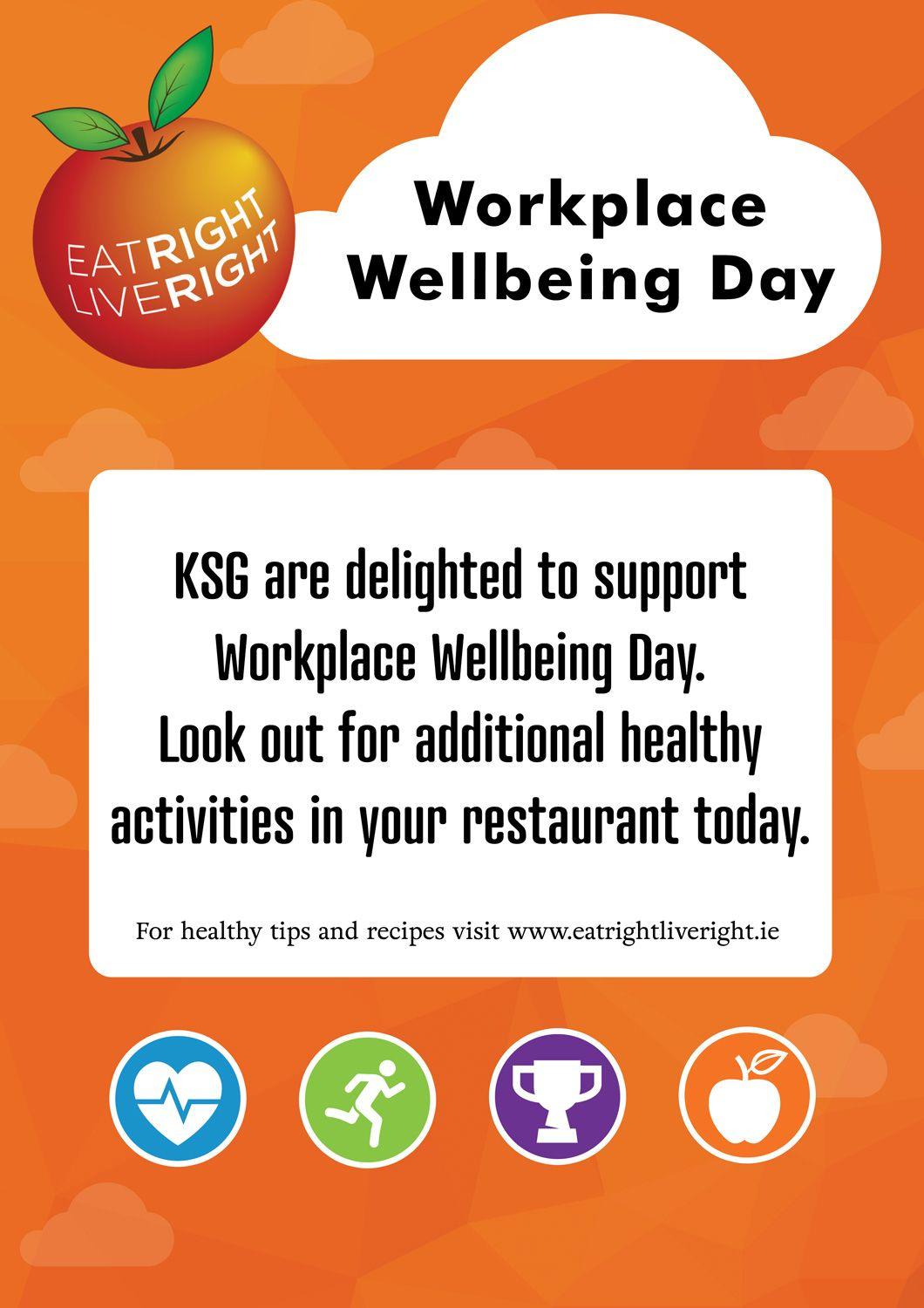 eat right live right campaign - workplace wellbeing day - poster