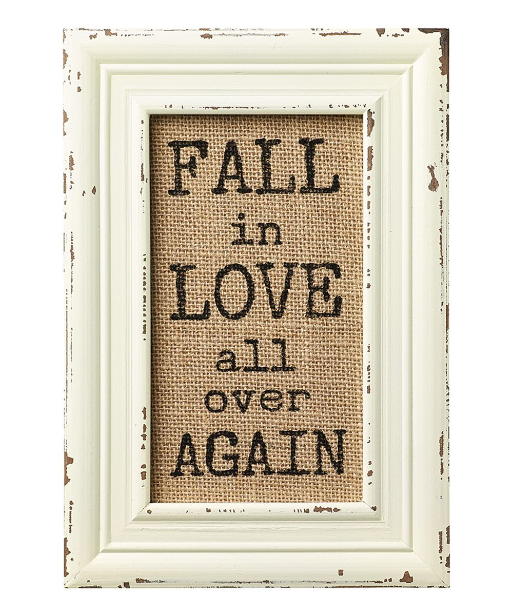 Fall In Love\' Burlap Frame | dekoration | Pinterest | Burlap frames ...