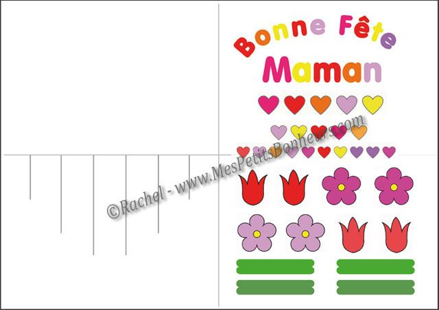 Carte Pop Up Pour La Fête Des Mères Découpage Collage à Imprimer Carte Bonne Fete Maman Bon Fete Maman Carte