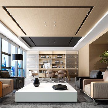 Office Interior Click To Get The Complete Design Ideas 3ds Max Models Download Max Files Cgmodel Office Ceiling Design Office Interior Design Luxury Office