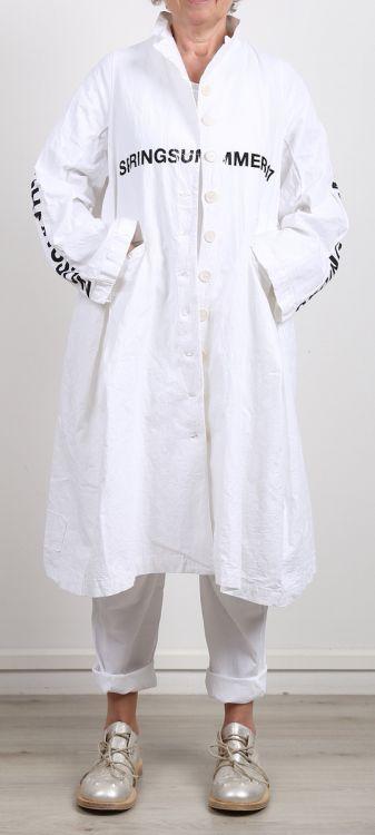 nelly johansson mantel fatima white printed sommer. Black Bedroom Furniture Sets. Home Design Ideas