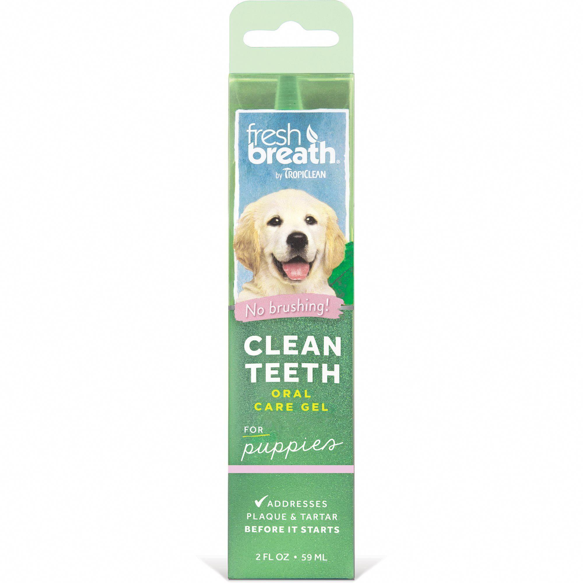 TropiClean Fresh Breath Clean Teeth Gel for Puppies | Petco #dentalcare