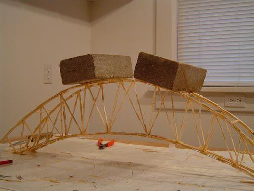 Toothpick bridge designs ponte pinterest bridge for Bridge design