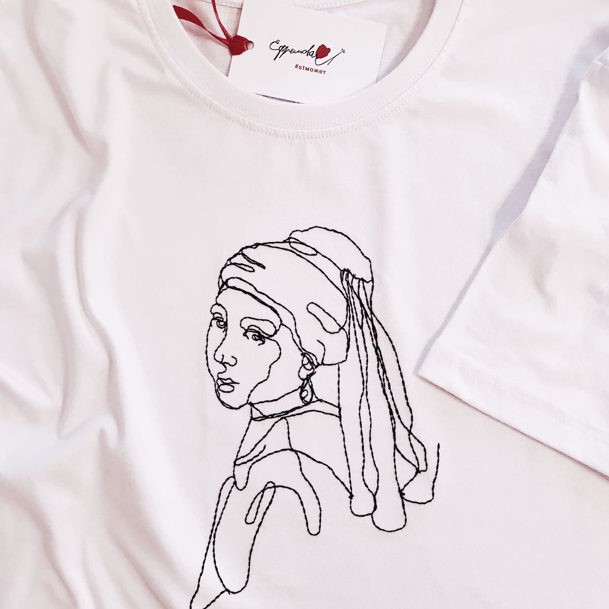 девушка с жемчужной серёжкой в 2020 г | Женские футболки ...