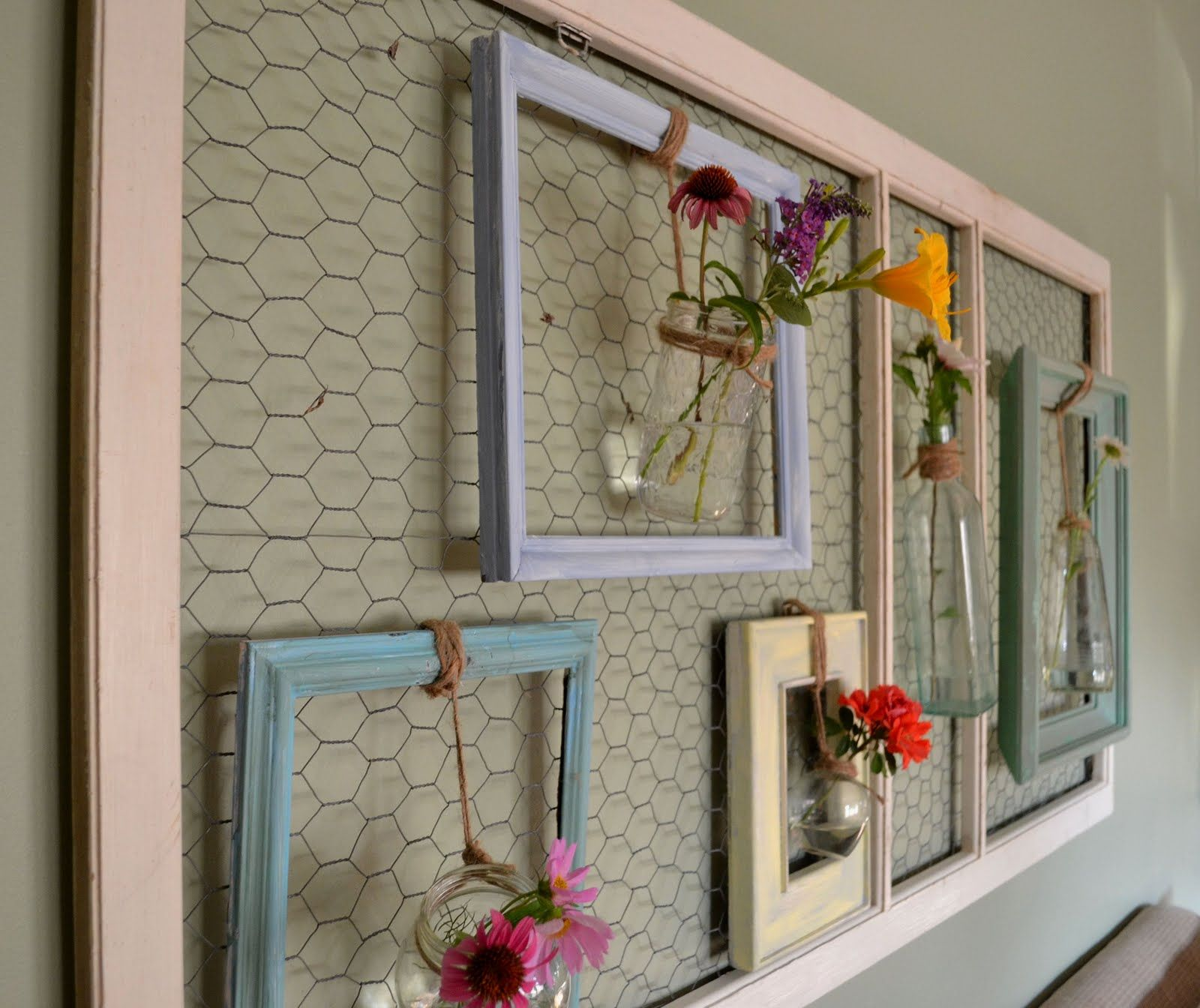 Wall Art Made From Old Screen Door
