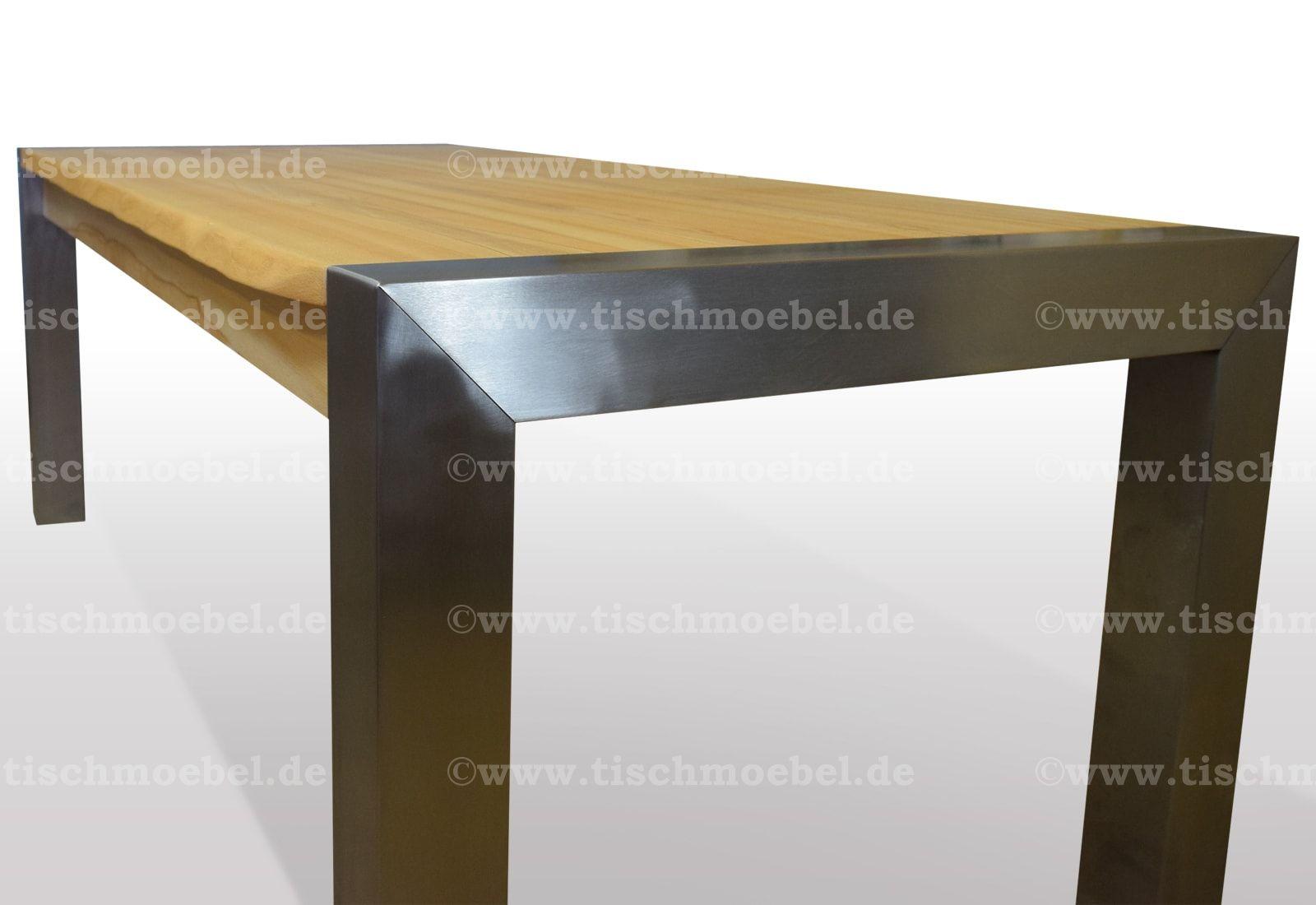 Tisch mit Baumkante Kernbuche Breite 90cm / Länge