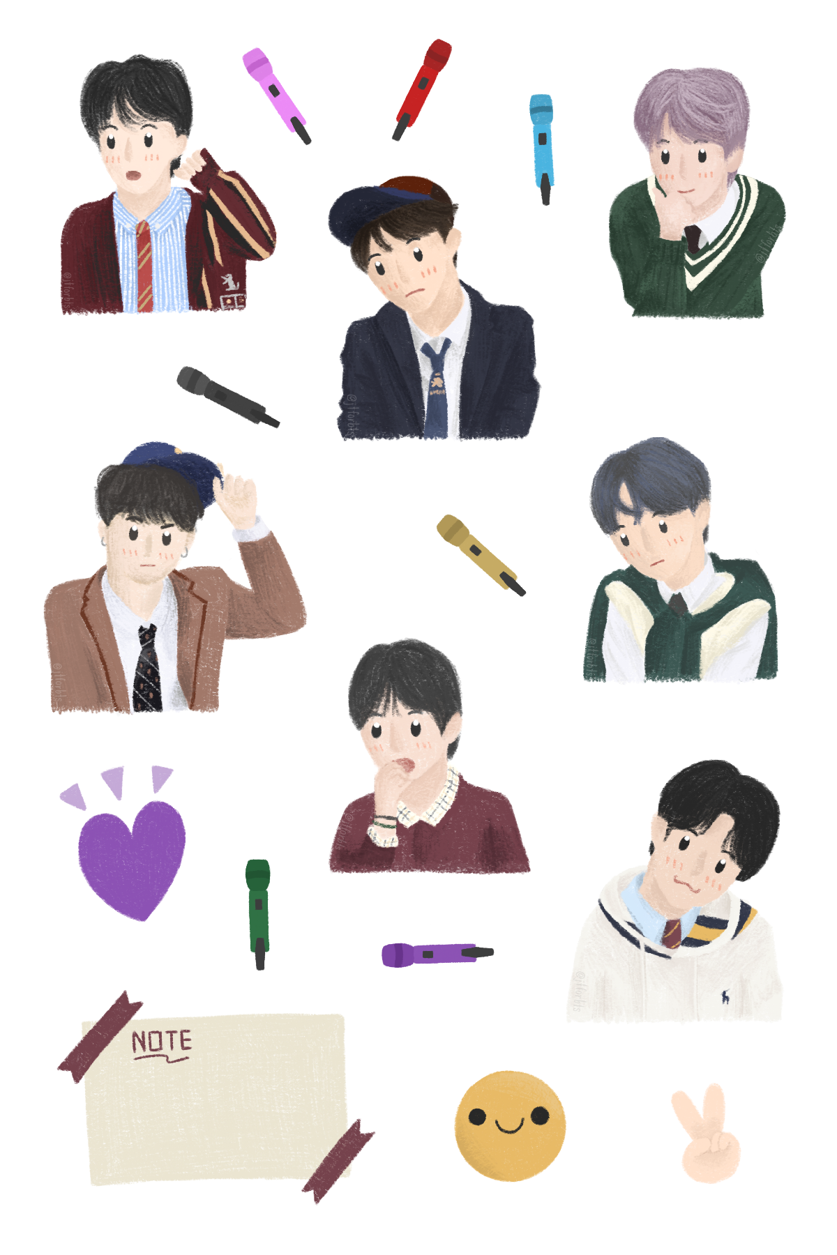 Awesome Bts Journal Stickers wallpapers to download for free greenvirals