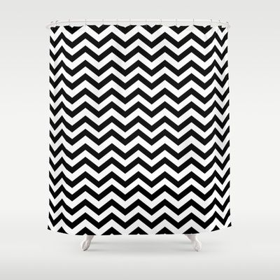 Zig Zag Chevron Black Lodge Floor Twin Peaks Shower Curtain By Welcome To