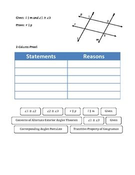 Parallel Lines And Transversals Proofs Worksheet With ...