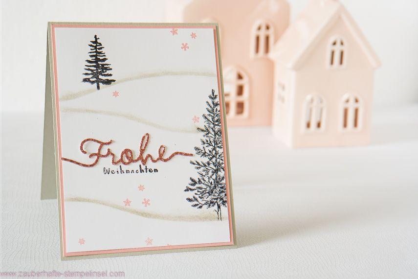 Stampin Up-Weihnachtskarte in trendiger Pastellfarbe