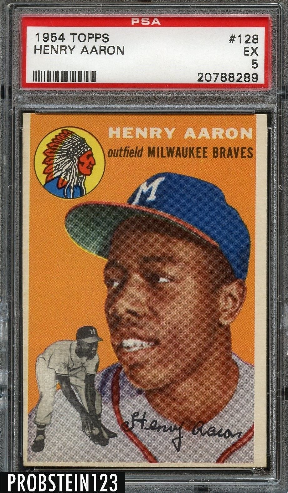 hank aaron baseball card 1972