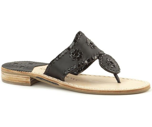 Palm Beach Navajo Sandal In Black By Jack Rogers Palm