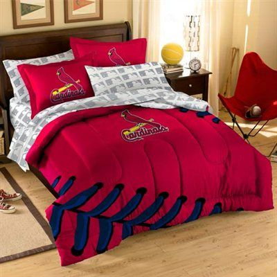 St Louis Cardinals 7 Piece Full Size Bedding Set Comforter Sets Bed In A Bag Full Comforter Sets