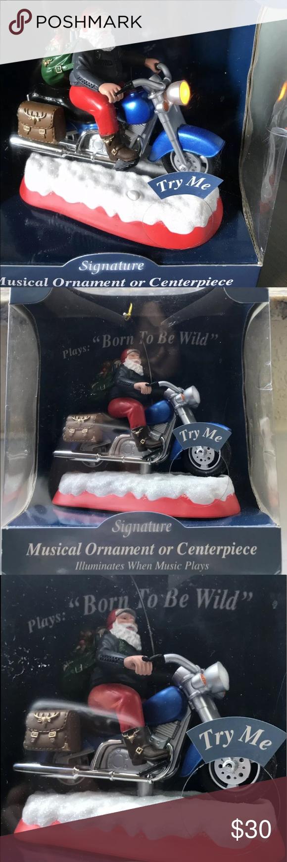 Signature Biker Santa Born To Be Wild Music Lights Light Music Gift For Lover Gag Gifts