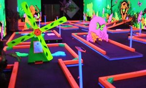 Groupon - Mini Golf for Two with Optional Laser Maze Challenge, or Mini Golf for Four or Six at Glowgolf (Up to 56% Off) in Hadley. Groupon deal price: $9
