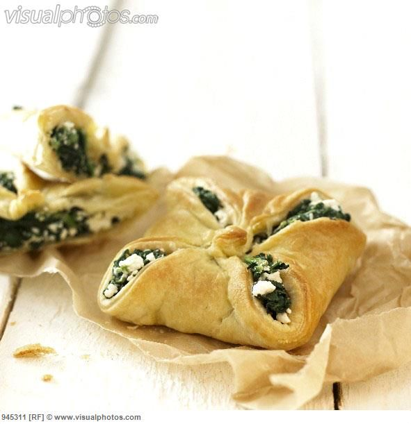 popover+pastry | Spinach and feta parcels