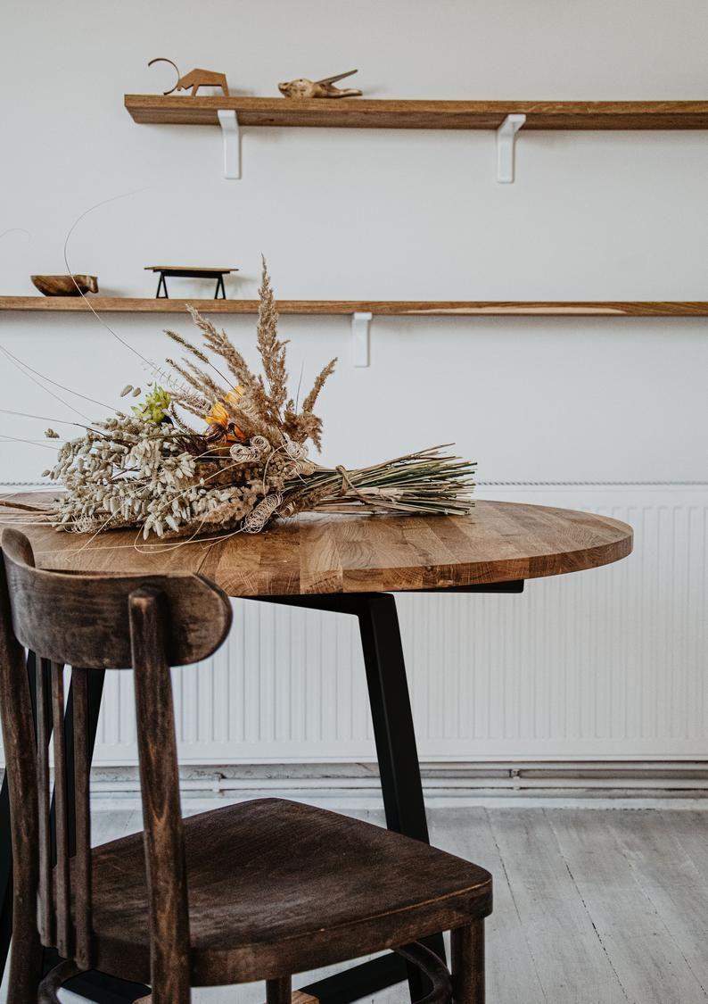 Runder Ausziehbarer Eichentisch Die Kuche Kuchentisch Runder Etsy In 2020 Industrial Dining Table Dining Table Modern Industrial