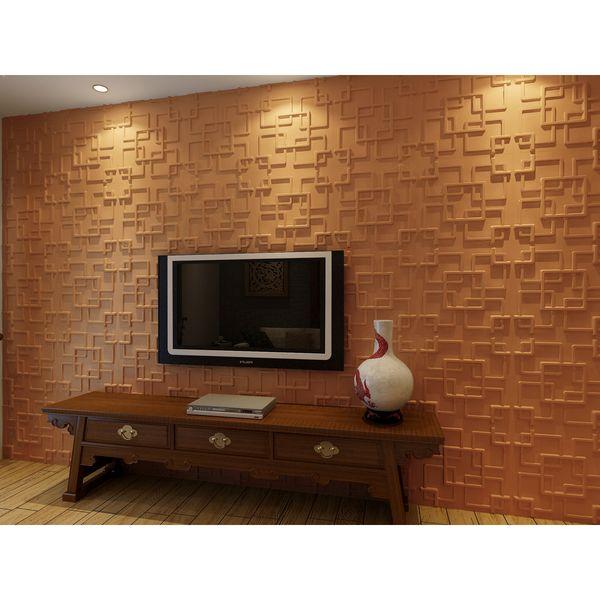 3D Wall Panels Plant Fiber Rex Design (10 Panels Per Box) (10 ...