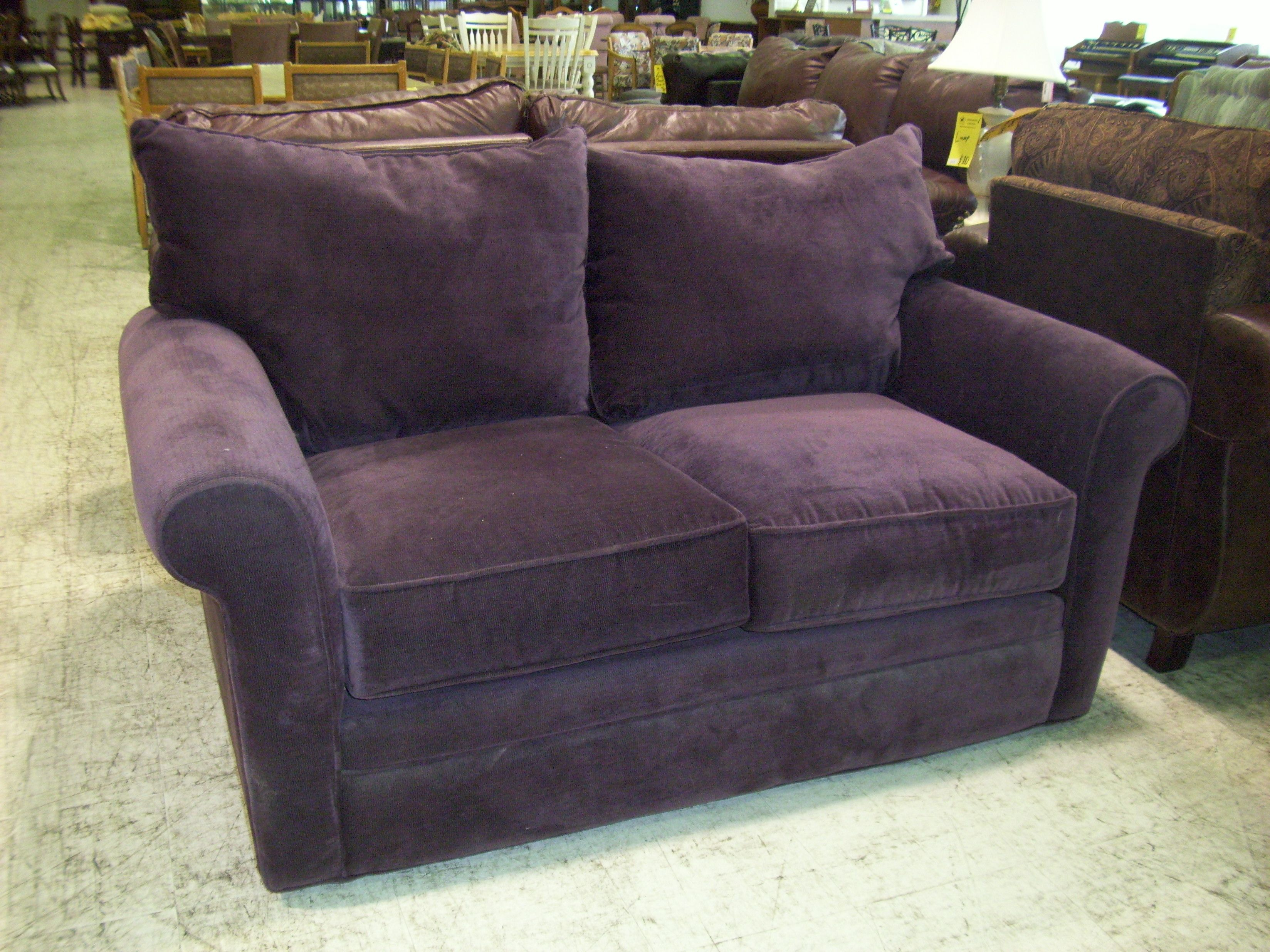 Purple Leather Sofa And Loveseat