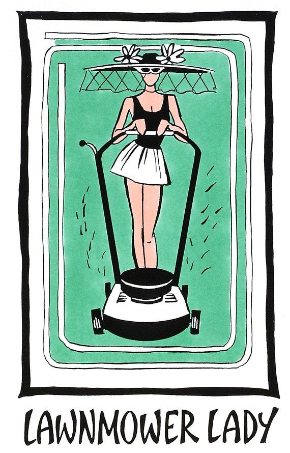 print lawnmower lady yard art mowing mow the lawn mower patio signs patio decor pin up gi pinterest products