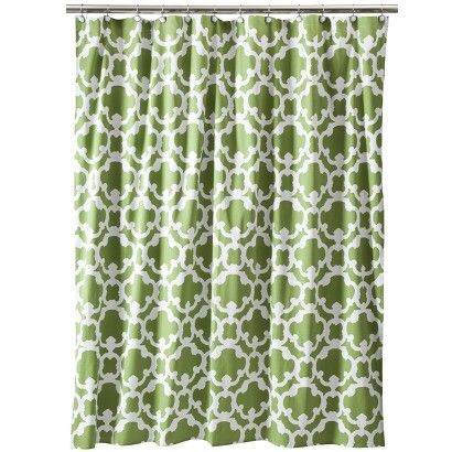 Target Shower Curtain What S Currently In Hall Bath Looks Good With Dark Blue Accents And Sherwin Wi Green Shower Curtains Grid Shower White Shower Curtain