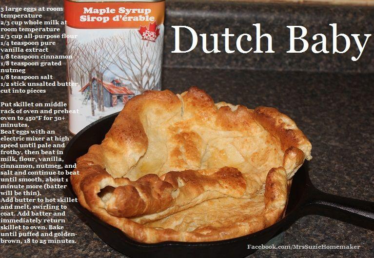 Dutch Baby Recipe Dutch Baby in a cast iron skillet ...