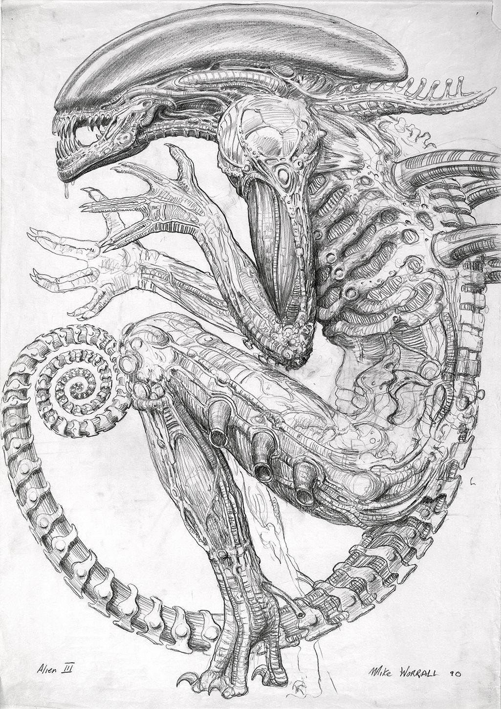 Never-Before-Seen Sketches That Inspired the Birth of Alien | WIRED ...