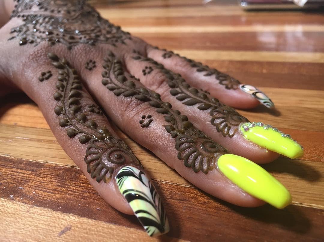 Henna Nail Art   Henna nails, Henna nail art, Nails