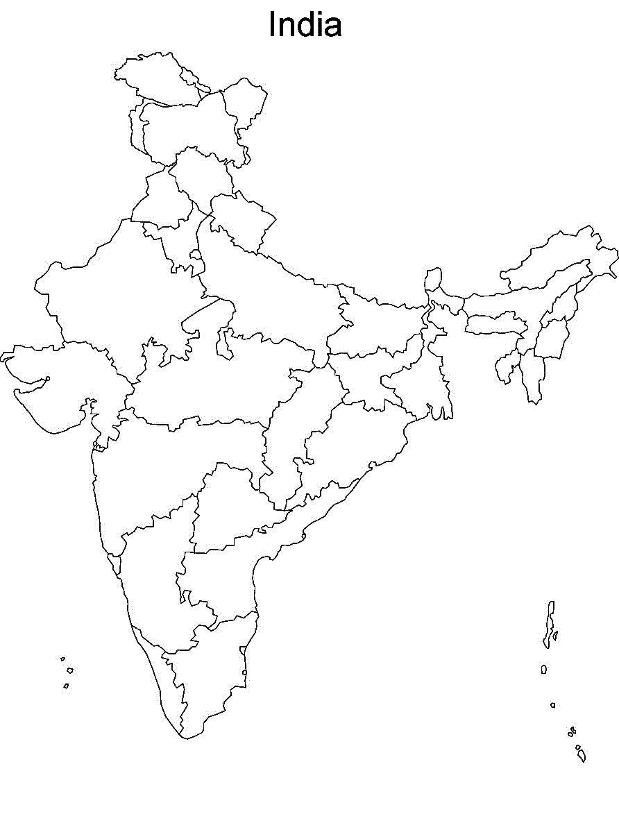 Dark India Map Outline Printable 3 10 Kaartenstemp Nl