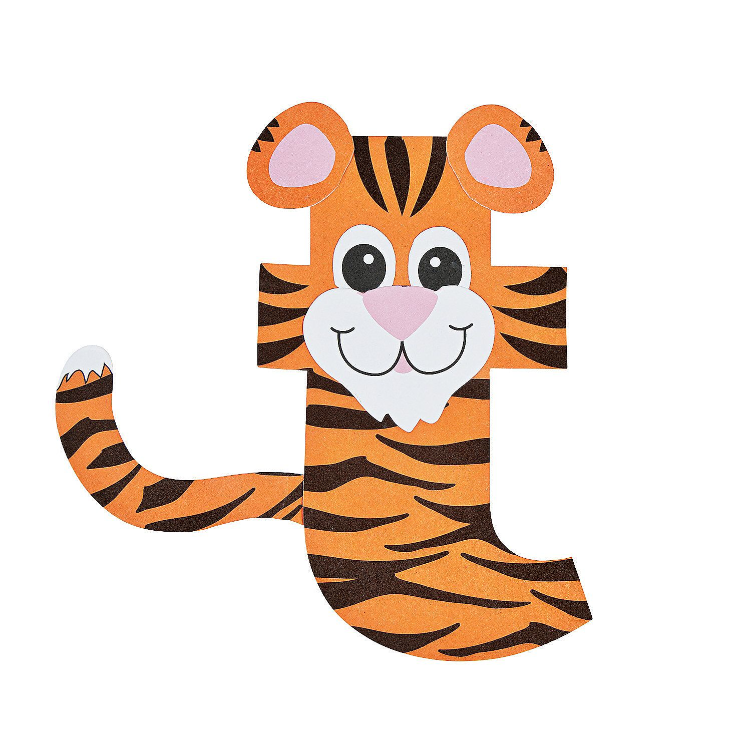 T Is For Tiger Letter T Craft Kit