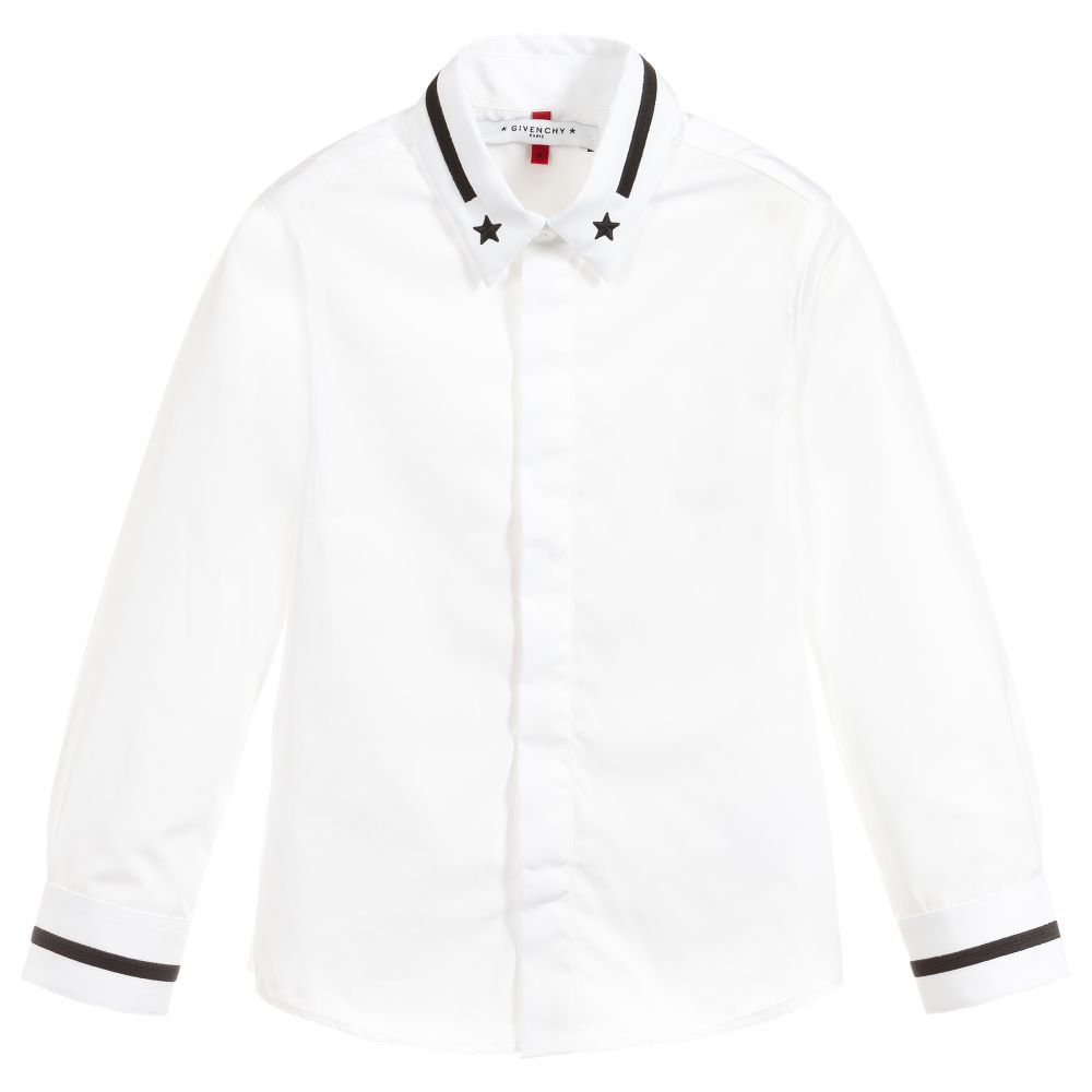 23ff1cd17 Boys White Cotton Shirt for Boy by Givenchy Kids. Discover the latest  designer Tops for kids online
