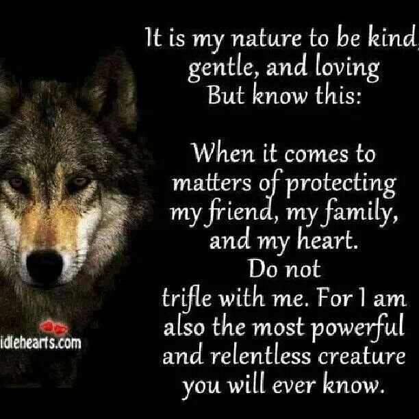 This Describes The Nature Of Wolf I Was Blessed Enough To Know Share