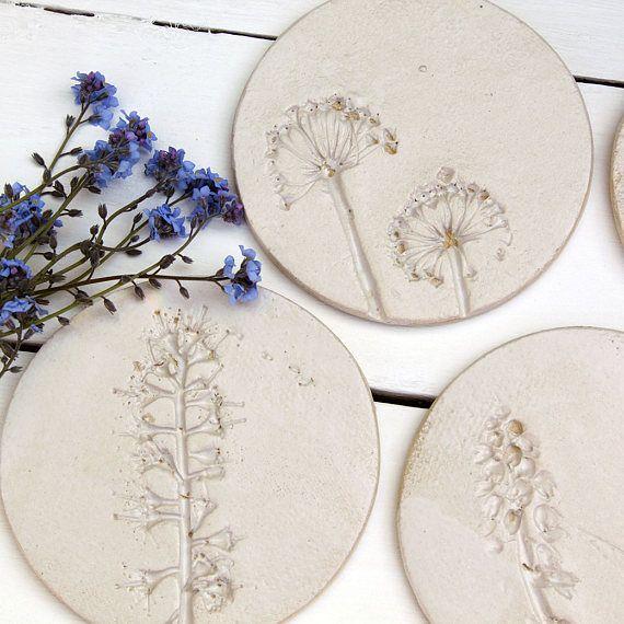 Wilde Blume Keramik Untersetzer #wildflowers