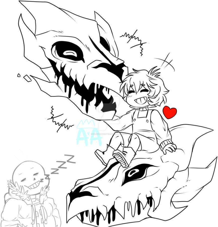 Coloring pages undertale -  Undertale A Good Time By The Star Hunter On