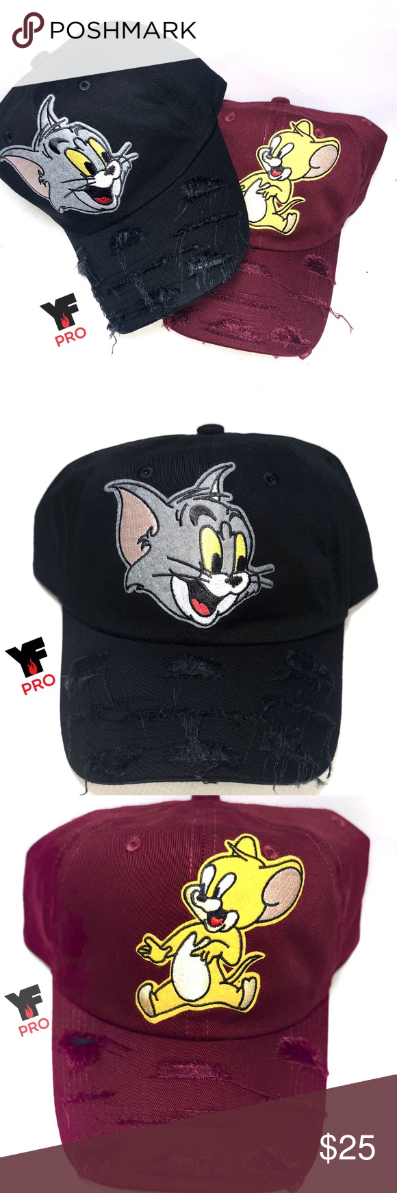 Tom   Jerry custom Dad hat Custom made distressed Dad hat by YFpro Jerry hat  is only available yfpro Accessories Hats c92b65fb68f