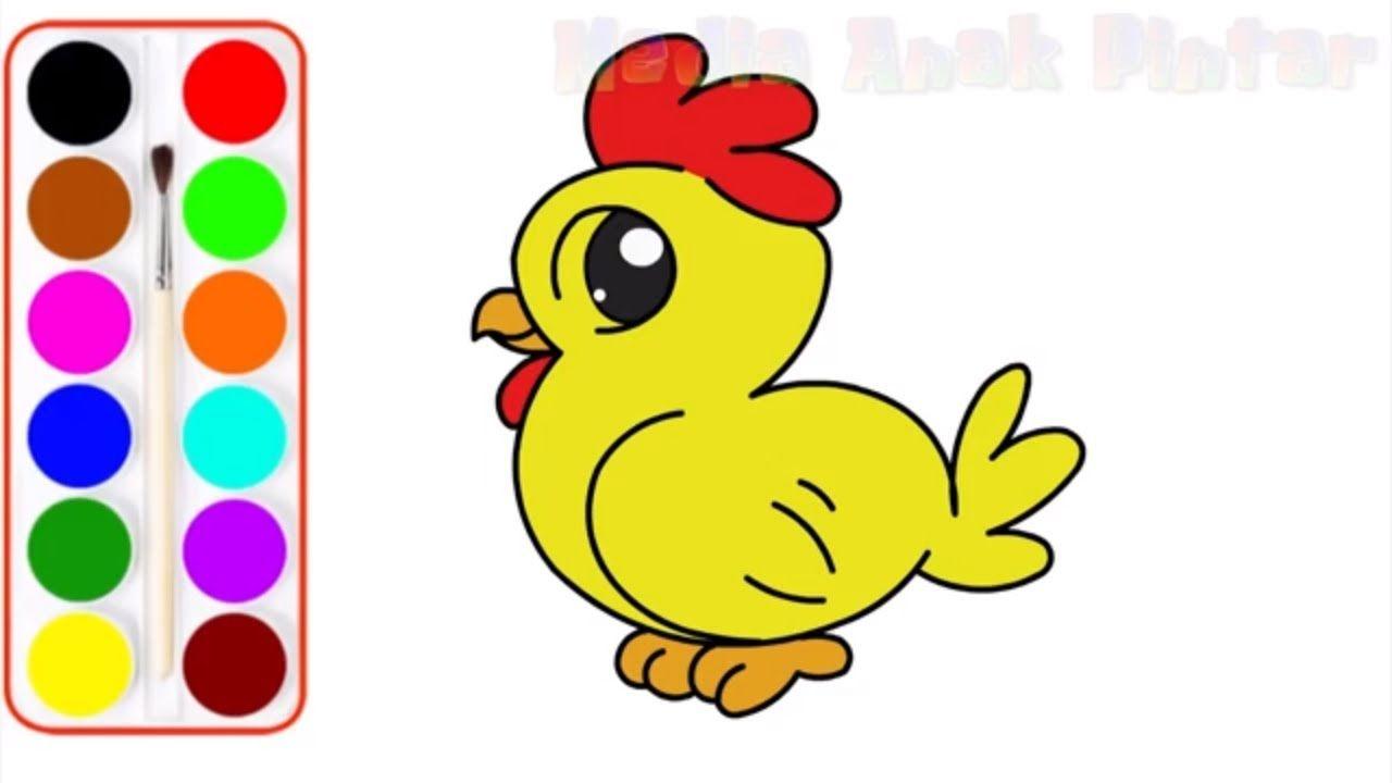 Menggambar Ayam Imut Gambar Cara Menggambar Anak