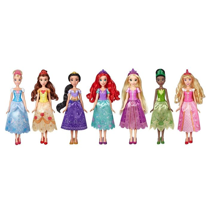Disney Princess Party Dress Pack Set Of 7 In 2020 Disney Princess Party Disney Princess Dolls Disney Princess Fashion