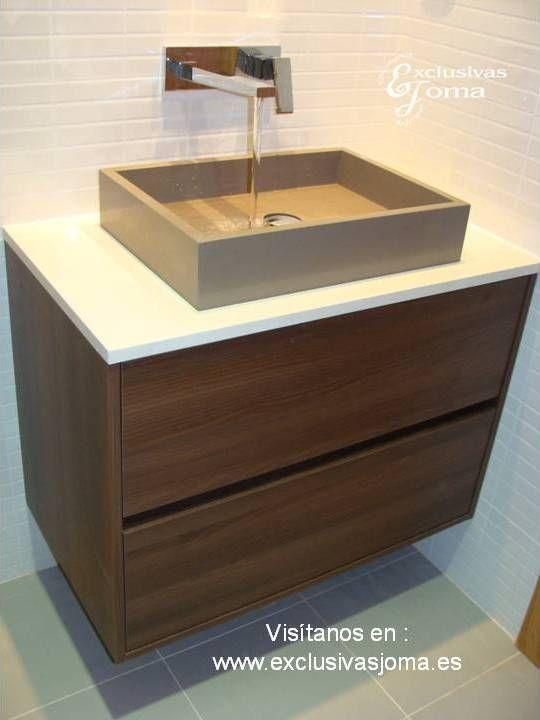 Lavabo sobre encimera | BAÑO | Pinterest | Muebles de baño, Acacia y ...