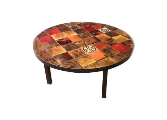 Table Basse Vintage Carrelage Avec Images Table Basse Vintage Bas Vintage Table Basse