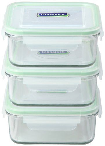 Glasslock Food Storage Container Sets Kinetic Go Green Glasslock Series Square 30Ounce Food Storage