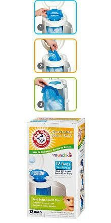 Arm & Hammer Diaper Pail Refills - 12 Pack