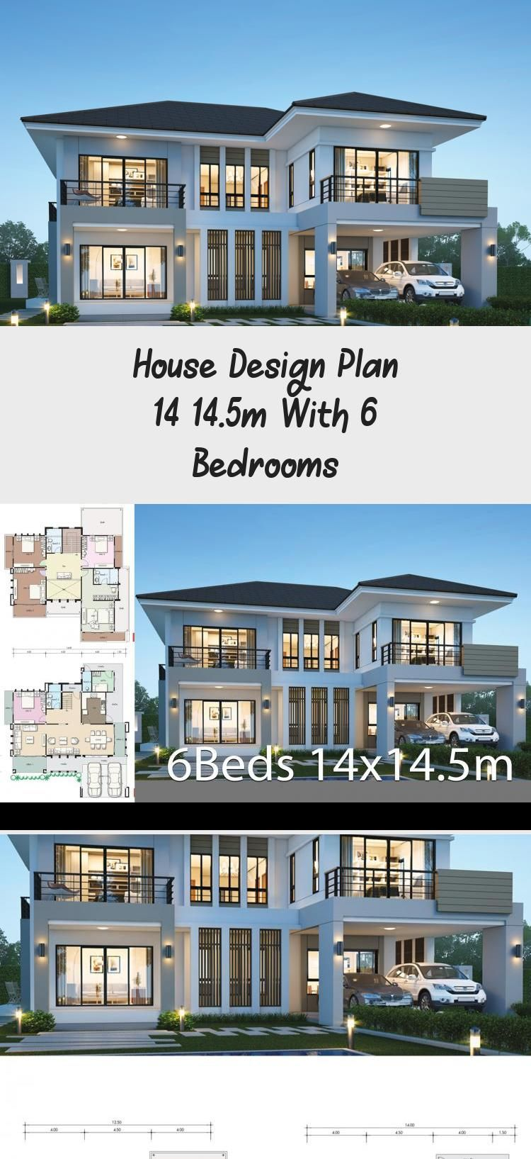 House Design Plan 14x14 5m With 6 Bedrooms Home Design With Plansearch Countryhouseplans Hou In 2020 Home Design Plans Affordable House Plans Victorian House Plans