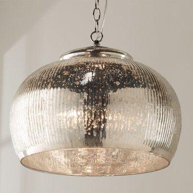 Antique Silver Mercury Dome Chandelier Mercury Glass Pendant Light Glass Pendant Light Mercury Glass Lighting